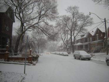 Snow Covered Street