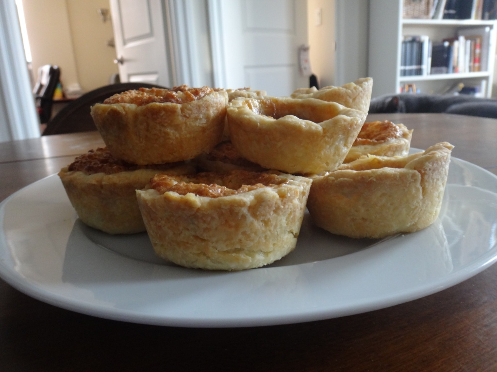 Butter tarts side view