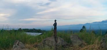 David on the rock