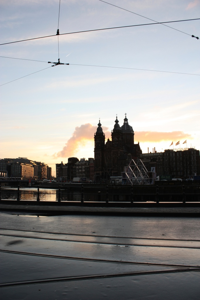Sunrise over Amsterdam