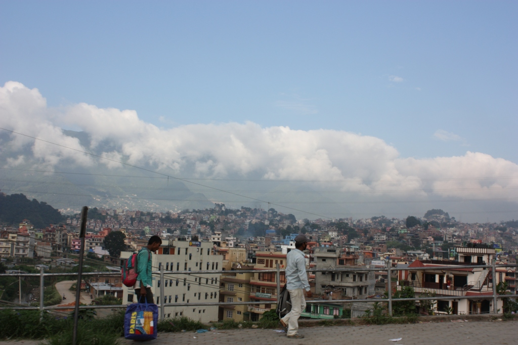 View of Kathmandu on the drive out of the city