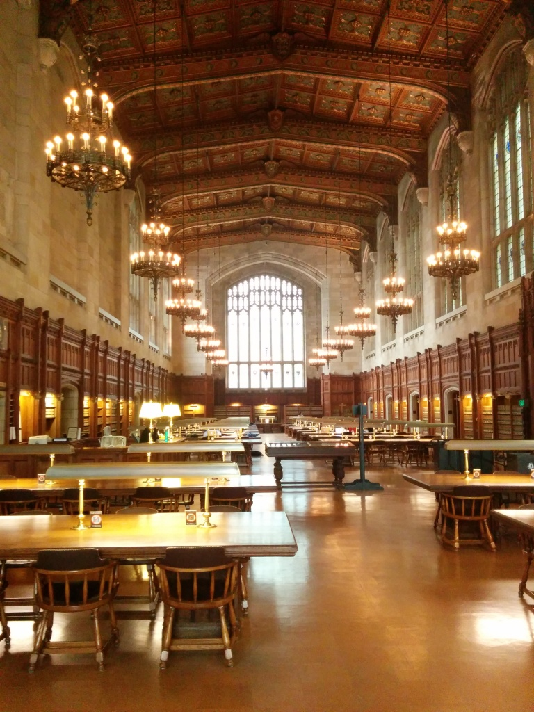 The legal research library at UofM. I wish UW had such inspiring spaces!